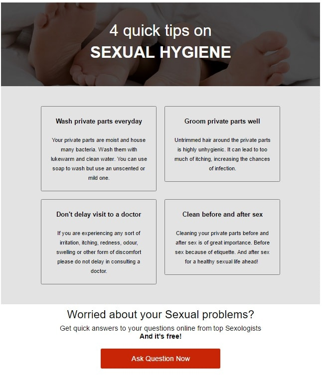 4 quick tips on Sexual Hygiene
